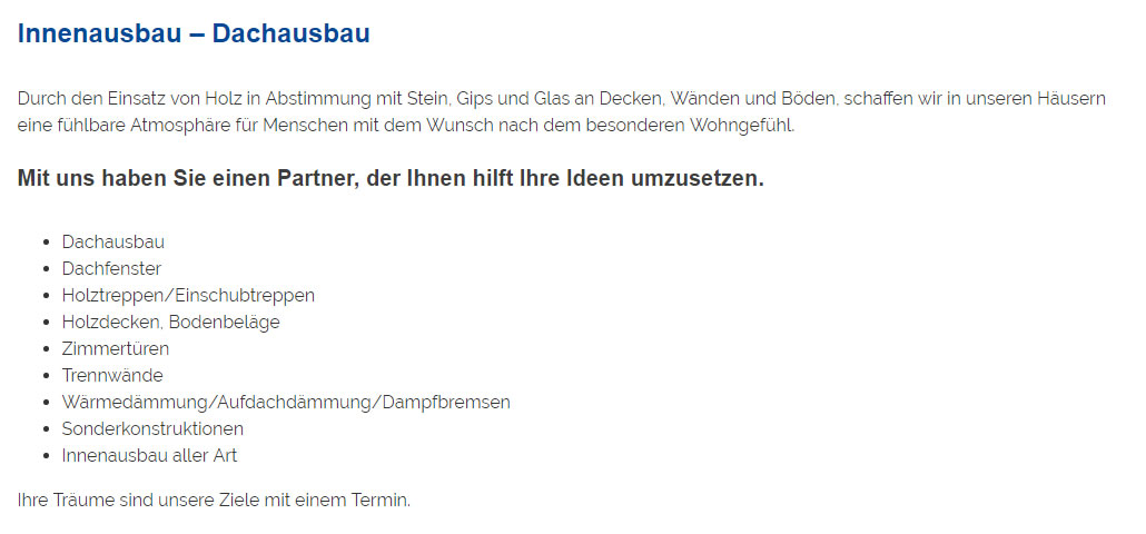 Innenausbau, Dachausbau aus 71686 Remseck am Neckar